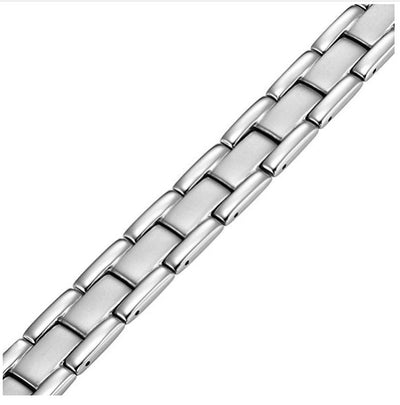 Mens Willis Judd Mens Titanium Magnetic Therapy Bracelet Adjustable for Pain Relief Arthritis and Carpal Tunnel