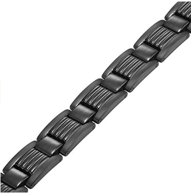 Titanium Magnetic Therapy Bracelet for Pain Relief Adjusting Tool and Gift Box Included By Willis Judd