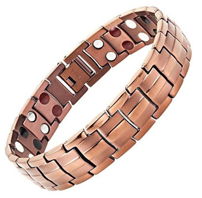 Mens Willis Judd Extra Strong Magnetic 4 Element Titanium Bracelet Size Adjusting Tool & Gift Box Included