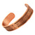 Agneti Alzeheimers Pure Copper Medical Alert ID Bangle Bracelet