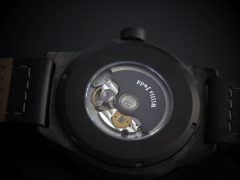 Forged Carbon Automatic - Open Heart Dial