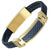 DAD Leather Bracelet with Blue Carbon Fiber Engraved Love You Dad