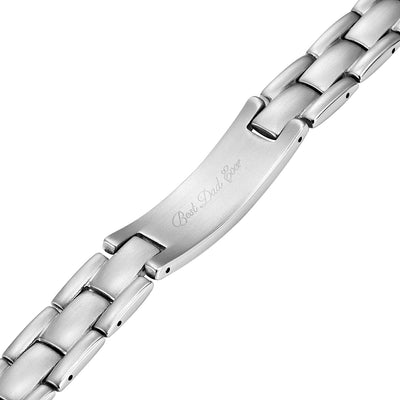DAD Titanium Bracelet Engraved with Best Dad Ever