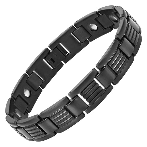 Men's Black Titanium Magnetic Bracelet