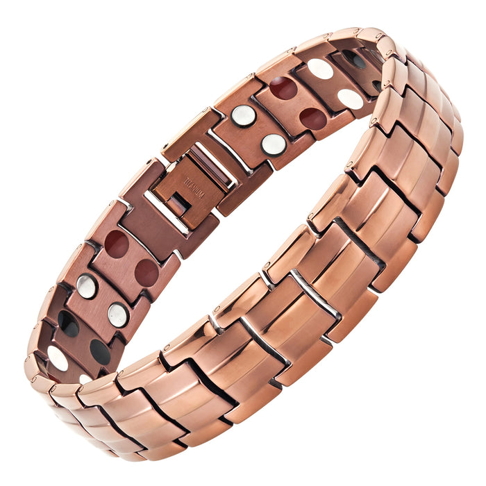 Men's Double Strength Four Element Magnetic Titanium Bracelet
