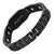 DAD Black Titanium Magnetic Therapy Bracelet Featuring Black Carbon Fiber Engraved Love You Dad