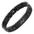 DAD Black Titanium Bracelet Featuring Green Carbon Fiber Engraved Love You Dad