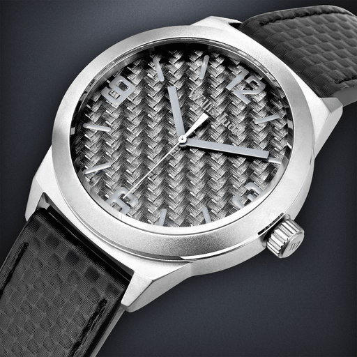 Brushed Stainless Steel with Graphite Carbon Fiber