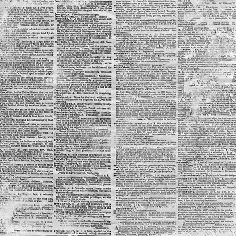 Antique Dictionary Page