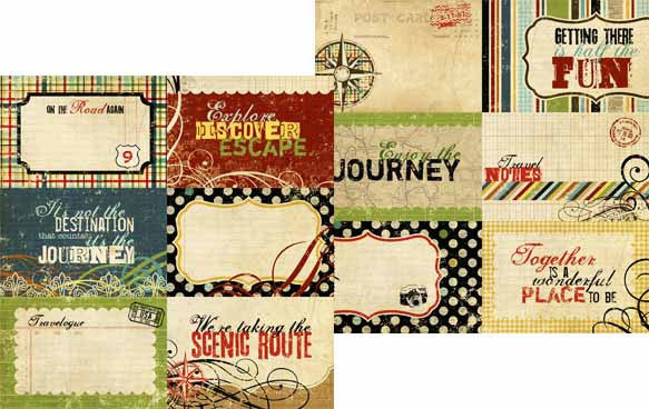 Simple Stories - Destinations - 4x6 Journaling Card Elements #1