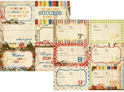 Simple Stories - Elementary - 4x6 School Year Journaling Card Elements #2