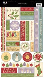 3 Bugs in a Rug - Deck the Halls - Cardstock Stickers