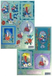 3D Die Cut - Christmas Candles (Twin Pack) - DUF-248856