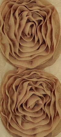 Kaisercraft - Ribbon Roses Large - Coffee