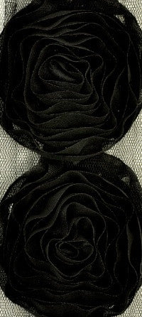Kaisercraft - Ribbon Roses Large - Black