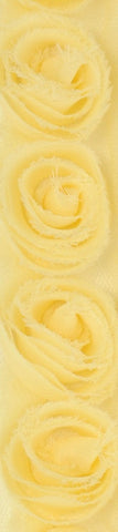 Kaisercraft - Ribbon Roses Small - Lemon
