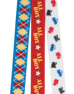 Queen & Co - Cute Kids - Boy - Printed Ribbon