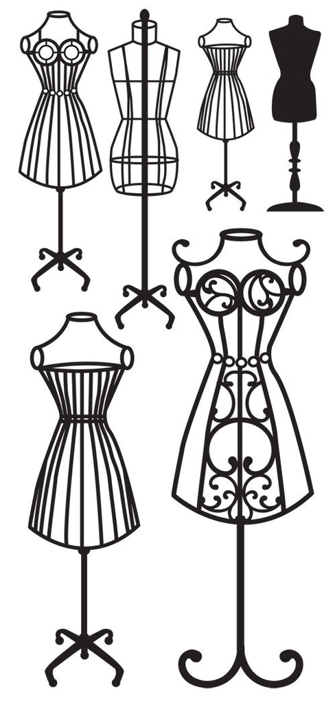 Kaisercraft - Timeless Rub ons - Dress Forms