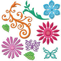 Spellbinders - Jewel Flowers & Flourishes