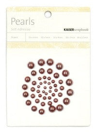 Kaisercraft - Pearls - Chocolate