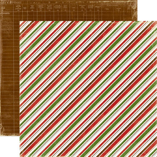 Echo Park - Very Merry Christmas - Diagonal Stripe