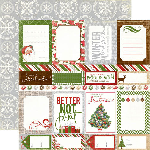 Echo Park - Very Merry Christmas - Journaling Cards