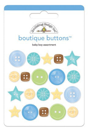 Doodlebug Designs - Snips & Snails - Boutique Buttons