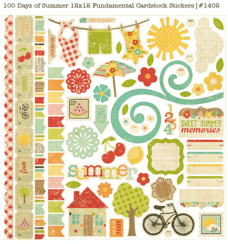 100 Days of Summer - Fundamentals Cardstock Stickers