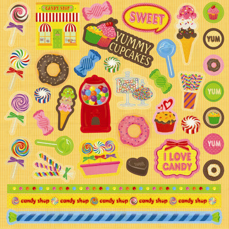 Best Creation - Candy Shop - Cardstock Stickers
