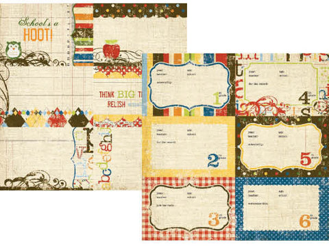 Simple Stories - Elementary - 4x6 School Year Journaling Card Elements #1