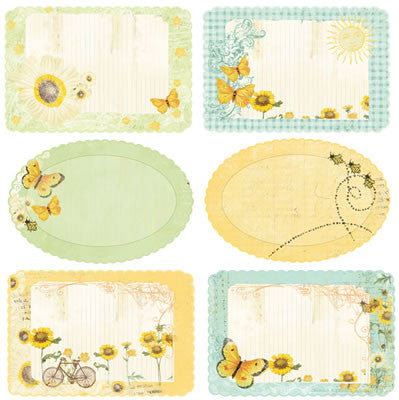 Prima - Sun Kiss Collection - Journaling Notecards