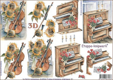 3D Card Topper - Violin & piano