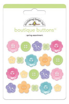 Doodlebug Designs - Hello Spring - Boutique Buttons