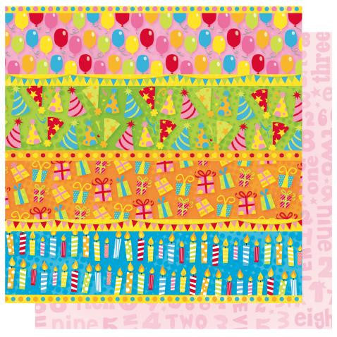 Best Creation - Let's Party - Birthday Border Strips