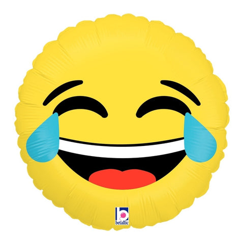 "18"" Emoji Laughing With Tears Foil Balloon"