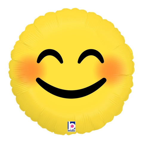 "18"" Emoji Smiley Foil Balloon"