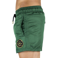 Green Men's Swim Short | Designer Men's Swimwear | Five Star Deluxe