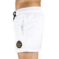 White Men's Swim Short | Designer Men's Swimwear | Five Star Deluxe