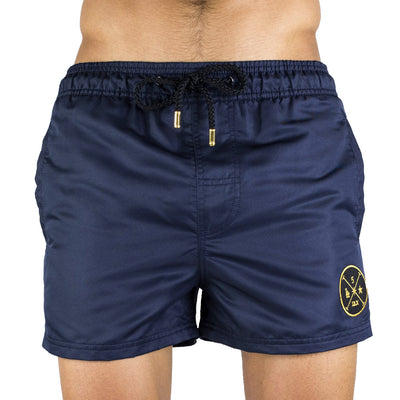 Navy Men's Swim Short | Designer Men's Swimwear | Five Star Deluxe