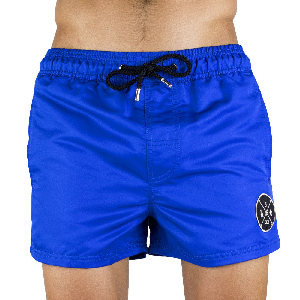 Blue Men's Swim Short | Designer Men's Swimwear | Five Star Deluxe
