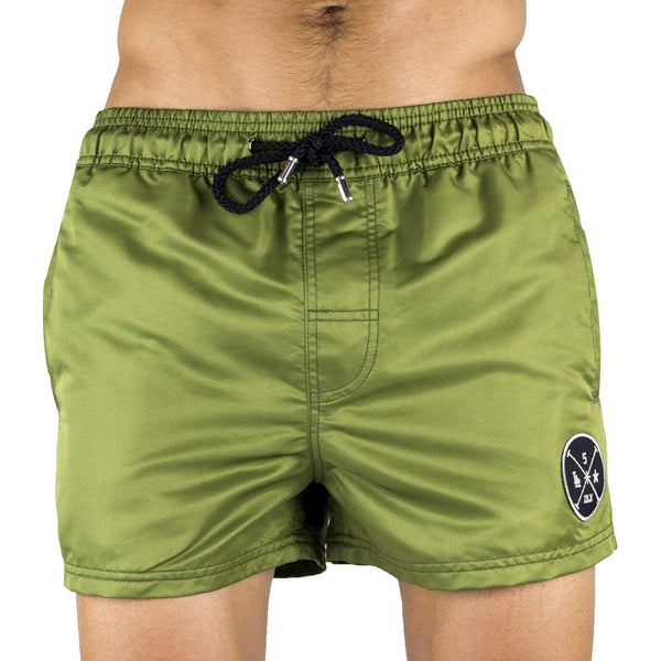 Kaki Men's Swim Short | Designer Men's Swimwear | Five Star Deluxe