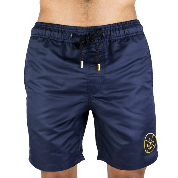 Navy Men's Board Short | Designer Men's Swimwear | Five Star Deluxe
