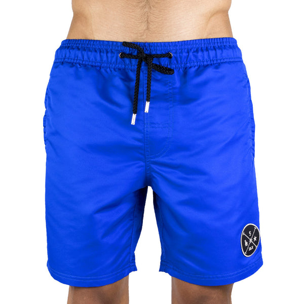 Blue Men's Board Short | Designer Men's Swimwear | Five Star Deluxe