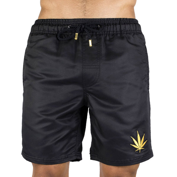 Black Men's Board Short | Designer Men's Swimwear | Five Star Deluxe