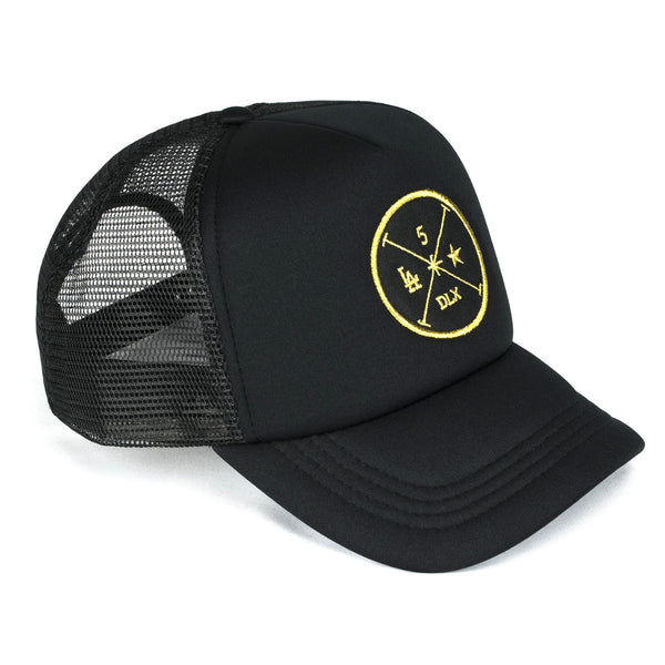 Black Men's Trucker Hat | Designer Men's Swimwear | Five Star Deluxe