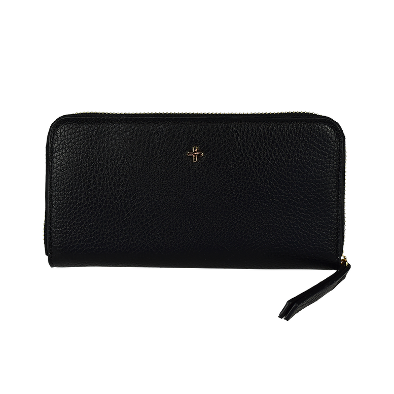 Black pebbled Vegan Leather Wallet