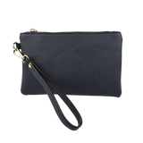Black pebbled Vegan Leather Pouch