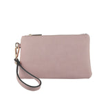 Pastel Pink Pebbled Vegan Leather Pouch