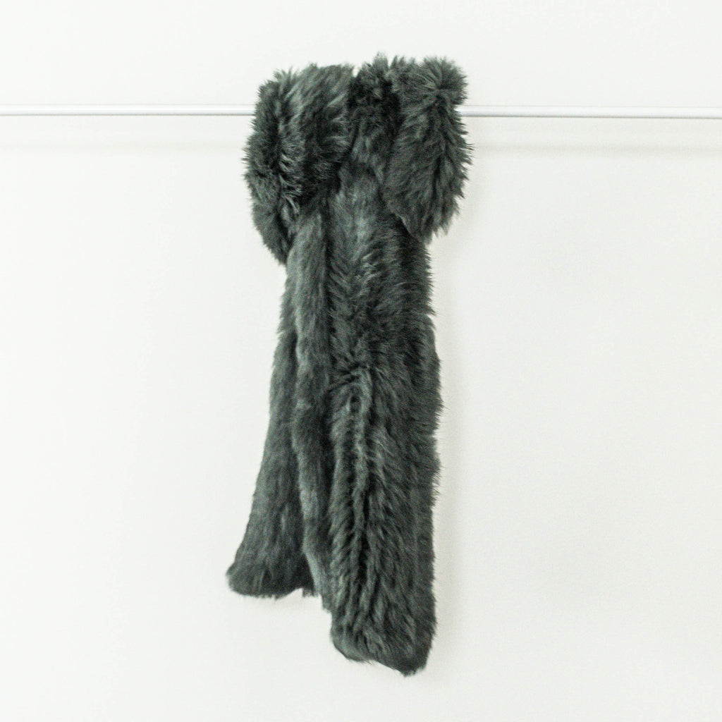 100% Ethically sourced, Sage dyed Rabbit Fur