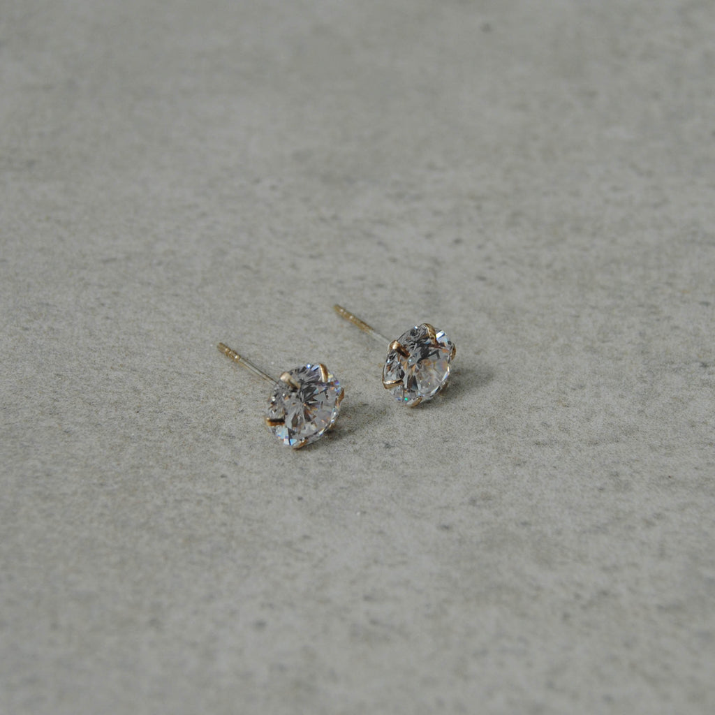 Diamante with Sterling Silver Stud Earrings